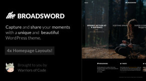 Broadsword – A WordPress Theme to Share Stories