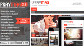 Spraymag – eCommerce, Magazine, Responsive Blog design