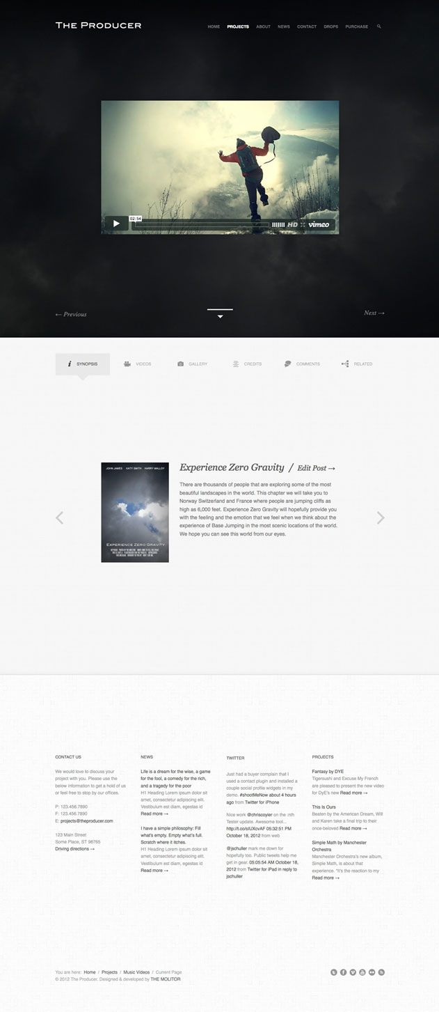 The Producer- Responsive Film Studio Theme