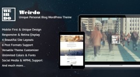 Weirdo – Unique Personal Blog WordPress Theme