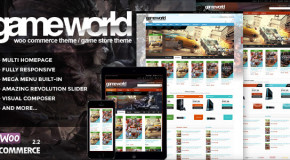 WooCommerce Game Theme – GameWorld