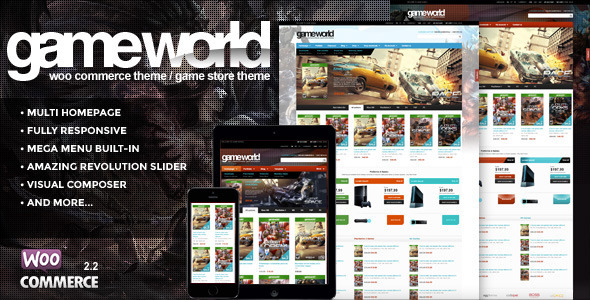 WooCommerce Game Theme - GameWorld